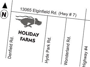 Holiday Farms map